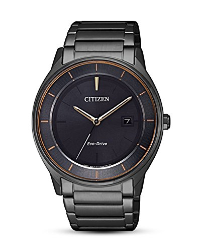 Citizen Reloj Analógico para Hombre de Cuarzo con Correa en Acero Inoxidable BM7407-81H