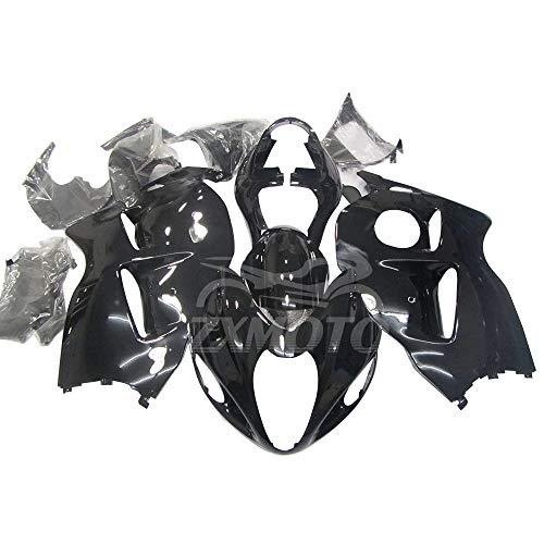 ZXMOTO Motorcycle ABS Bodywork Fairing Kit for 1997-2007 Suzuki Hayabusa GSXR 1300 1997 98 99 2000 2001 2002 2003 2004 2005 2006 2007 Glossy Black - (Pieces/kit: 19)