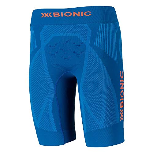 X-Bionic The Trick 4.0 Run Men Shorts Femme, Teal Blue/Kurkuma Orange, FR : S (Taille Fabricant : S)