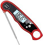 YUYANDE Termómetro de carne: el mejor termómetro ultra rápido impermeable con la luz de fondo y la calibración, el termómetro de alimentos digitales para la cocina, la cocina al aire libre, la barbaco