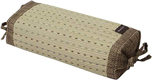 Ikehiko 7559259 - Almohada tradicional japonesa de hierba Igusa natural, altura regulable, 30 x 15 cm, color marrón