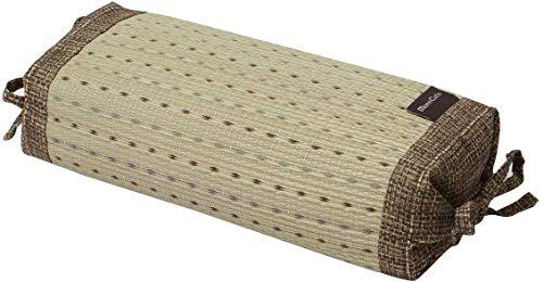 Ikehiko 7559259 - Almohada tradicional japonesa de hierba Igusa natural, altura regulable, 30 x 15 cm, color marrón