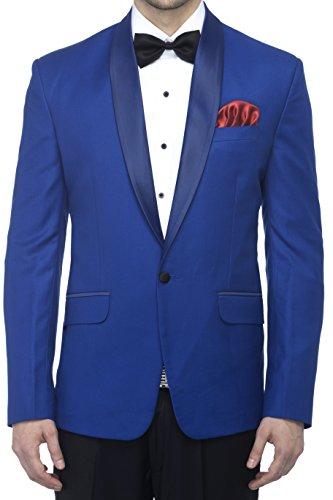 FAVOROSKI Men's Polyester and Viscose Blazers – Royal Blue