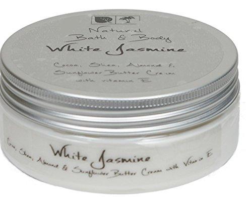 Kakaobutter Creme Handcreme Gesichtscreme WEISSER JASMIN 200 ml mit Sheabutter geeignet auch für sehr trockene Haut