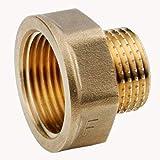 Conector Reductor de latón 3/4` Hembra 1/2` Macho SP