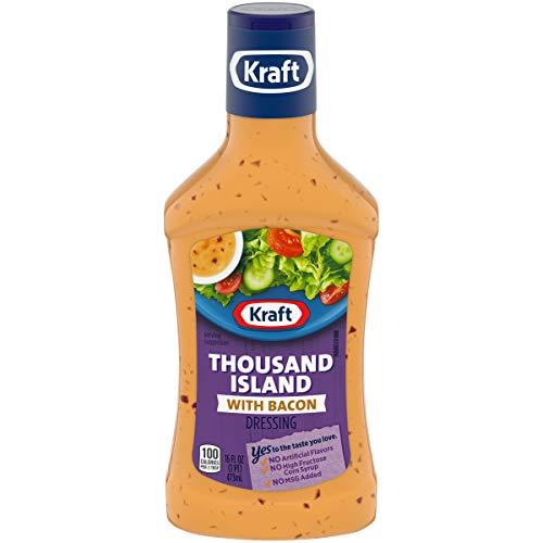 Kraft Salad Dressing, Thousand Island with Bacon, 16 oz