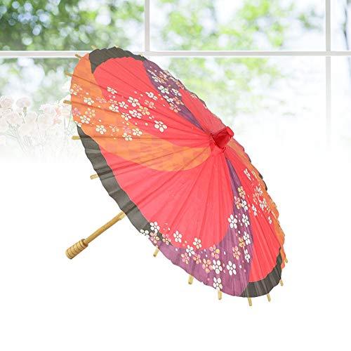 feiren 1 x Papierschirm dekorativer japanischer Stil Mini-Sonnenschirm für Tanzen, Hochzeit, Heimdekoration, Fotografie (Farbe: wie abgebildet).