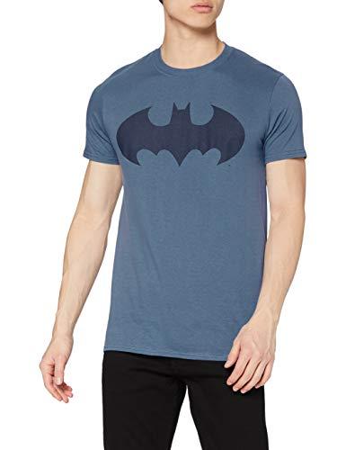 dc comics Batman Mono Logo T-Shirt, Bleu (Indigo), M Homme