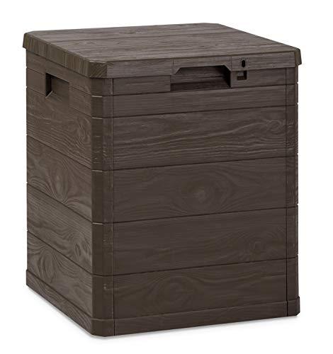 Toomax Baule Woody's 90L, Contenitore da Esterni, Art. 173, Dim. cm 42,5x44x50h, Colore Marrone