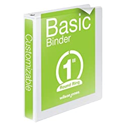 Basic Three Ring Binder in White
