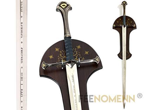 FEENOMENN Lord of The Rings - Anduril Cosplay (mit Wandhalterung) - Zubehör Goodies Dekoration Collection