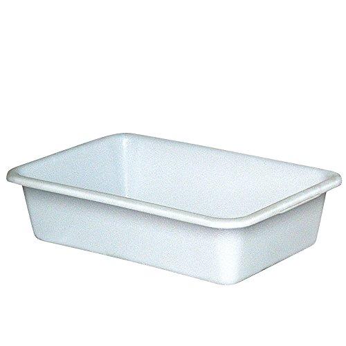 Kunststoffwanne, 40 Liter, Außenmaße LxBxH 710 x 490 x 185 mm, lebensmittelecht, weiß