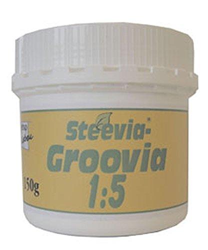 3er-SET Steevia Groovia (weiß, kristallines Pulver) 150g Gesund & Leben