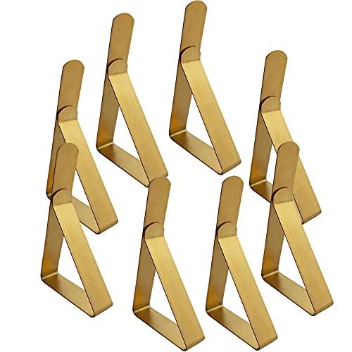 RIQQQ Pinzas para mantel de 8 piezas, pinzas para mantel de mesa, pinzas de mesa, pinzas para exterior, ajustable, fijación para mantel, jardín, cocina, oficina, restaurante, pico, boda, fiesta, etc