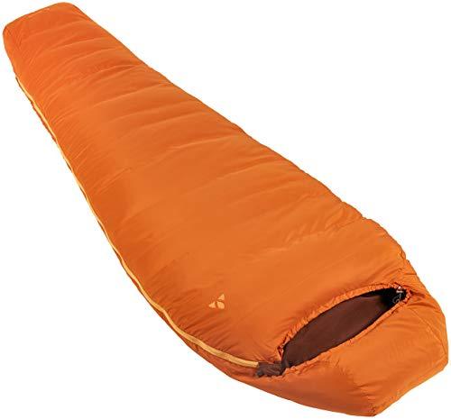 VAUDE Schlafsack Marwees 300 DWN, warmer und vielseitiger Daunenschalfsack, Mumienschnitt, orange madder, one Size, 129679820010