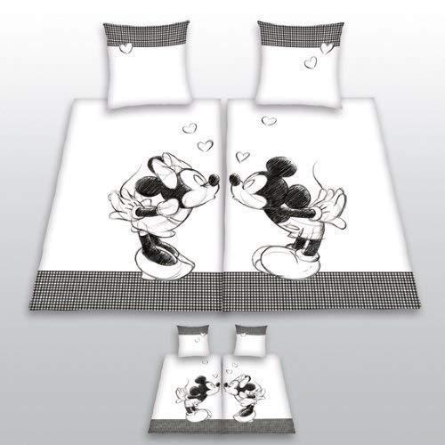 2 x Bettwäsche Mickey + Minnie Partner Liebe Herding Geschenk COOL 135 x 200 cm - ALL-IN-ONE-OUTLET-24 -