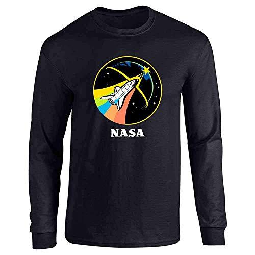 Findom NASA Space Program Logo Retro Graphic Full Long Sleeve Tee T-Shirt