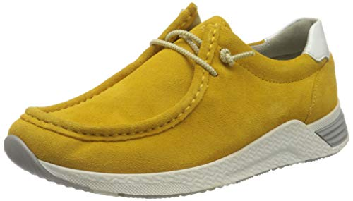 Sioux Damen Grash-D192-59 Sneaker, Gelb (Amber/Weiss 006), 39.5 EU