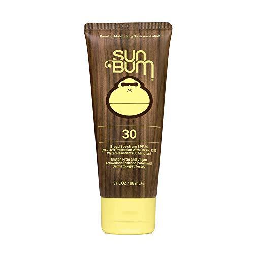 Sun Bum Original SPF 30 Sunscreen Lotion | Vegan and Reef Friendly (Octinoxate & Oxybenzone Free) Broad Spectrum Moisturizing UVA/UVB Sunscreen with Vitamin E | 3 oz