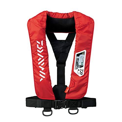 ダイワ(DAIWA) ウォッシャブルライフジャケット(肩掛けタイプ手動・自動膨脹式) レッド フリー DF-2007