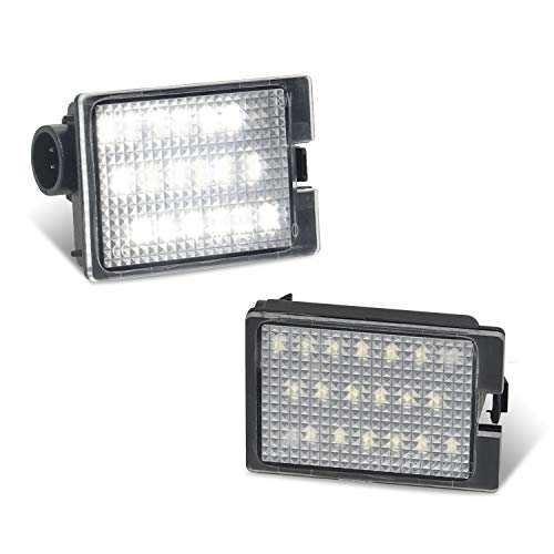 RUXIFEY LED License Plate Light Tag Lights Compatible with Dodge Durango 2014-2019 Pickup Truck, 6000K White, Pack of 2