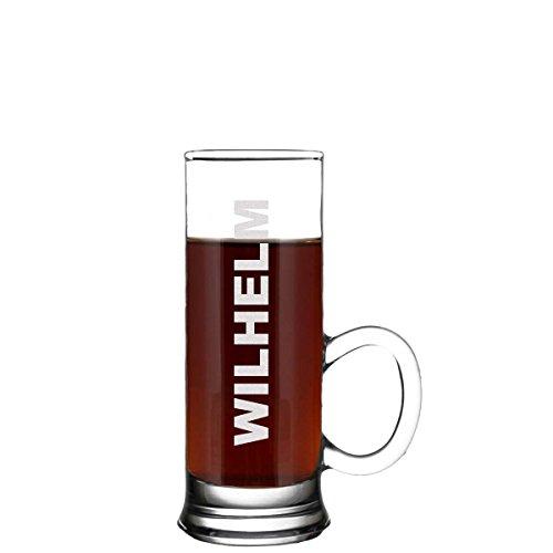 polar-effekt Stamper Personalisiert - Schnapsglas mit Henkel inkl. individuelle Gravur - Geschenkidee zum Geburtstag für Männer und Frauen