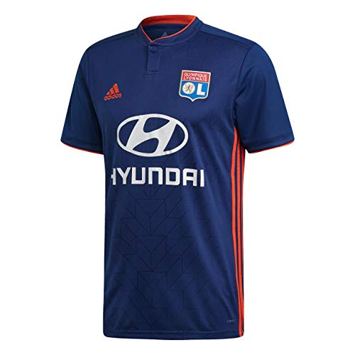 adidas Olympique Lyonnais - Camiseta de fútbol para Hombre, Hombre, Color Dark Blue/Hi-Res Red, tamaño Small