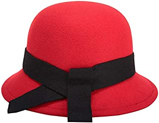 Lei Zhang Felt hat hat Ladies hat Simple Fashion hat Cap (Color : Red)