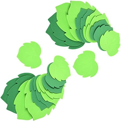 BCP 24pcs Foam Green Leaf Leaves Greenery Shapes Stickers Craft Art Project for Classroom Wall product image