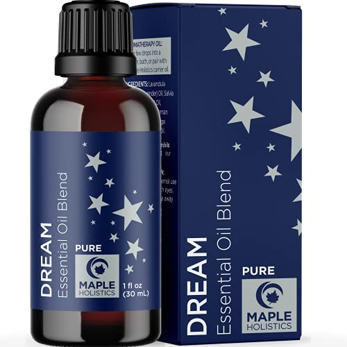 Sleep Essential Oil Blend for Diffuser - Dream Essential Oils for Diffusers Aromatherapy and Wellness with Ylang-Ylang Clary Sage Roman Chamomile and Lavender Essential Oils for Sleep Support