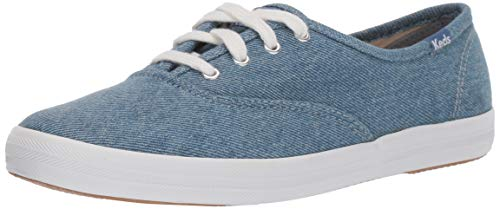 Keds Women's Champion Seasonal Solids Sneaker, Blue Denim, 10