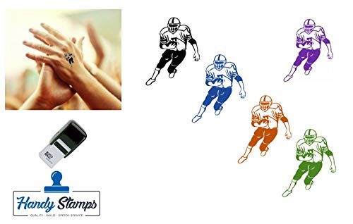 American Football Hand Stamp - Suitable for Festivals, Parties, Clubs, Special Events, Bars etc. (Black)