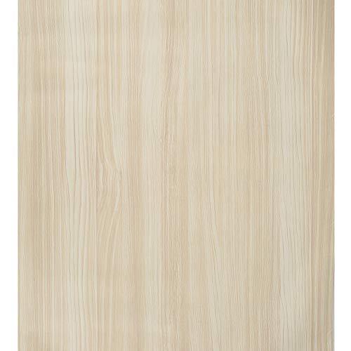 Papel Pintado de Madera Blanco Papel Pintado Autoadhesivo de Grano de Madera Papel Pintado Autoadhesivo Papel de Contacto Decorativo Impermeable Fácilmente Extraíble 44 * 500cm