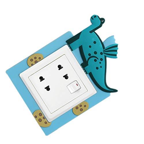 Busirde Interruptor de luz Watertproof Zócalo Pared de la Historieta de la Cubierta Protectora del Interruptor de Pared Decoración Panel Azul Inner Size: 8.6x8.6cm