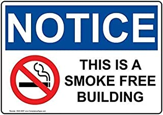 Lucky bamboo Retro Wall Decoration,Notice This is A Smoke Free Building for No Smoking, 8×12 inches Pre-drilled Holes Wall Decoration