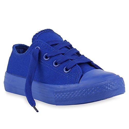 Stiefelparadies Kinder Sneakers Viele Farben Sportschuhe Turnschuhe Schnürschuhe 139820 Blau Blau 26 Flandell