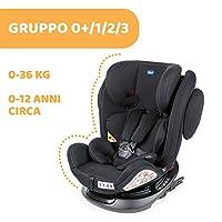 Chicco Unico Plus Seggiolino Auto 0-36 kg ISOFIX Reclinabile, Gruppo 0+/1/2/3 per Bambini da 0 a 12 Anni, Facile da Installare, Poggiatesta Regolabile, Protezione Laterale e Cuscino Riduttore, Nero #1
