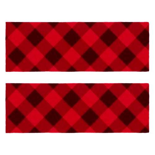 Toallas de gimnasio de fitness con estampado cuadrado rojo y negro de secado rápido, toalla de microfibra para entrenamiento deportivo para hombres y mujeres, paquete de 2