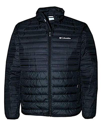 Columbia McKay Lake Men's Down Lightweight Thin Full Zip Jacket (Black, L)