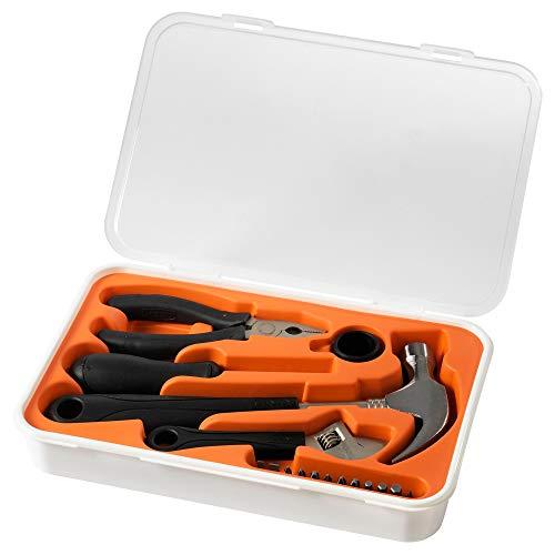 IKEA 001.692.54 FIXA Werkzeugsatz 17-tlg, Orange/Weiß, Large