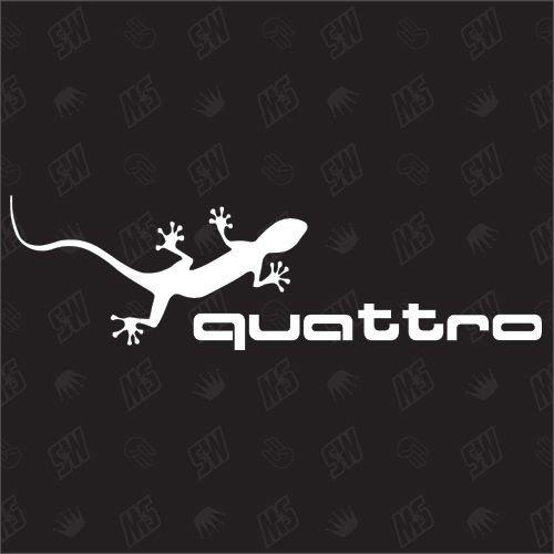 Gecko Sticker - Compatibel met Audi Quattro
