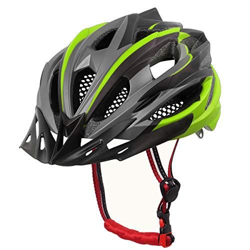 X-TIGER Casco da Bici,Ultraleggero Stabile Strada Montagna da Uomo Donna Ciclismo Casco di Bicicletta Casco Adulto Visiera Casco di Protezione Certificata CE-Verde