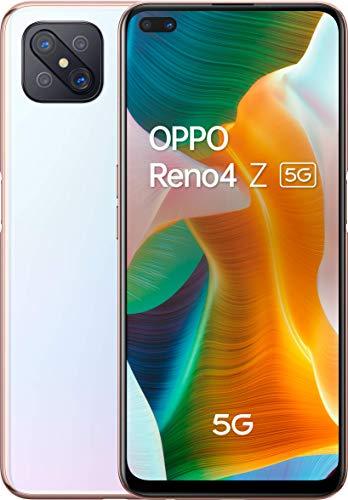 OPPO Reno4 Z Smartphone 5G, Display 6.5''+Refresh Rate 120Hz, 4 Fotocamere, RAM 8GB e 128GB Non Espandibile, Batteria 4000 mAh, Dual Sim, 2020, [Versione italiana], Dew White