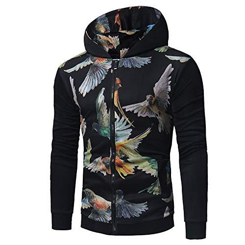 Zarupeng heren sweatjas dunne jas met capuchon herfst winter druk ritssluiting hoodies jas lange mouwen mantel top
