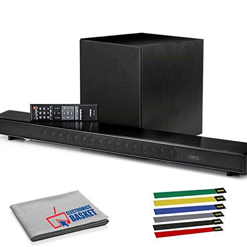 Yamaha MusicCast YSP-2700 107W 7.1-Channel Soundbar System (Black) with Cable Ties and Microfiber Cloth