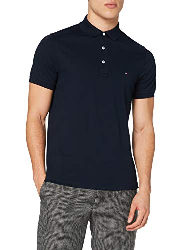Tommy Hilfiger Herren CORE Tommy Slim Polo Poloshirt, Blau (Sky Captain 403), Large