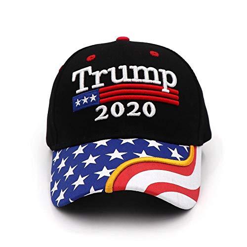 Capswhh Nueva Gorra De Trump 2020 Bandera De Ee. Uu. Gorras De Béisbol Mantenga A América Nuevamente Grande Presidente Hat 3D Bordado Negro Venta Al Por Mayor @ T5_Una Talla Que Se Ajusta A La Mayoría