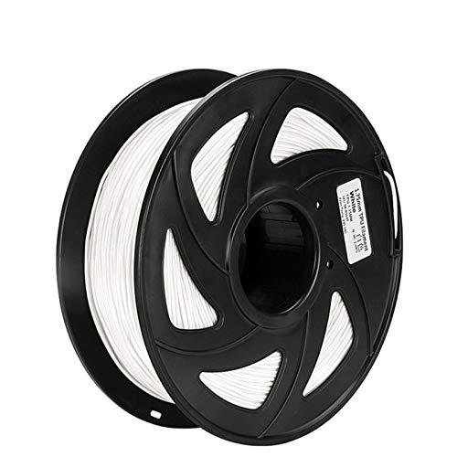 YANGDONG ABS/TPU/PLA-Filament, 1,75 Mm 1 Kg, 3D-Druckmaterial, Für 3D-Drucker, 3D-Stift, Plastik-PLA-Filamento, 3D-Druckerteile (Color : TPU White)