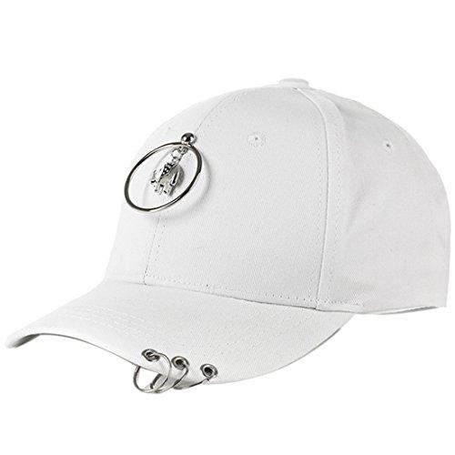 Belsen Damen Stift Ring Reifen Vintage Baseball Cap Trucker Hat (Elefanten Weiß)