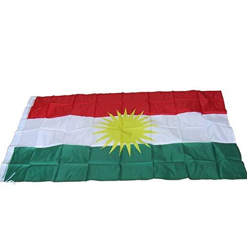 Vlag Van Koerdische, Polyester Vlag Van Koerdistan, Indoor En Outdoor Festival Dress Up Patriottische Gekleurde Vlag 150 * 90 Cm. (Size : 90 x 150cm)